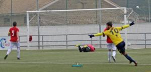 Juanjo celebra el gol navero | Manuel Zapata