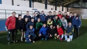 Los jugadores del Urgavona hicieron piña en el entrenamiento de ayer | Foto: Urgavona CF