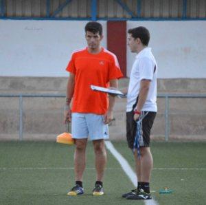 Rafa Perales en un entrenamiento con el Navas | Manuel Zapata