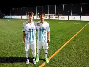 Kevin (a la derecha) junto a Juan Sánchez en el San Roque | Radio Sierra 96.4