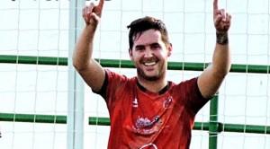 Iván celebra un gol con el Urgavonva   José Cuesta