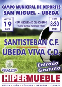 Cartel del Úbeda - Santisteban | CD Úbeda Viva