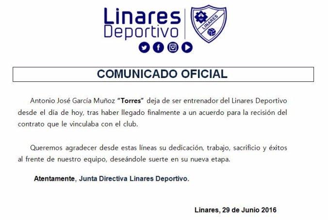 Comunicado Linares