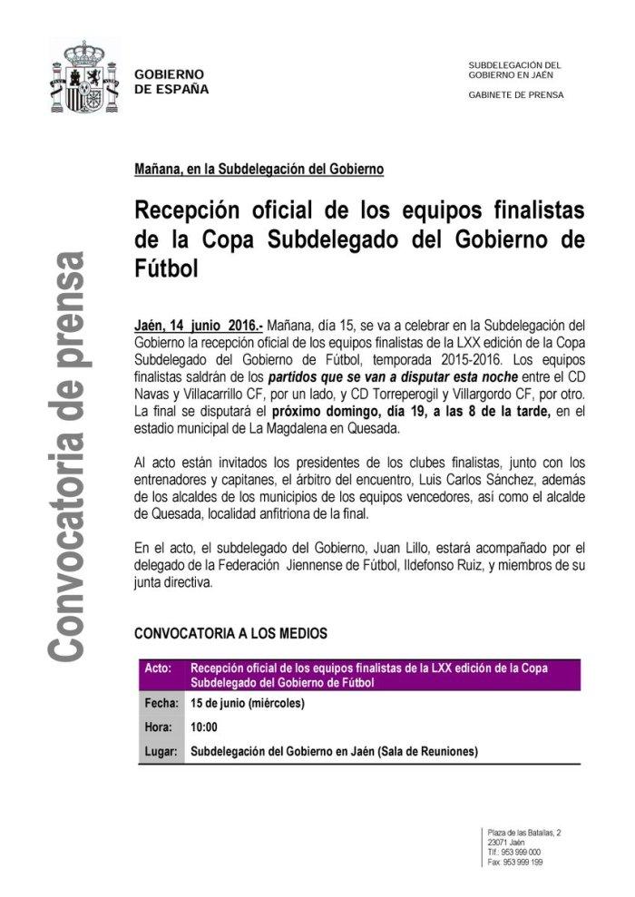 Copa Subdelegado