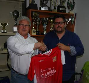 Fernando Carriquí en su presentación | CD Santisteban