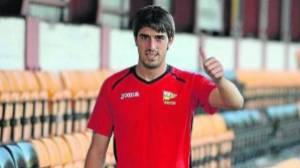 Zarate posando como jugador del Portugalete | www.deia.com