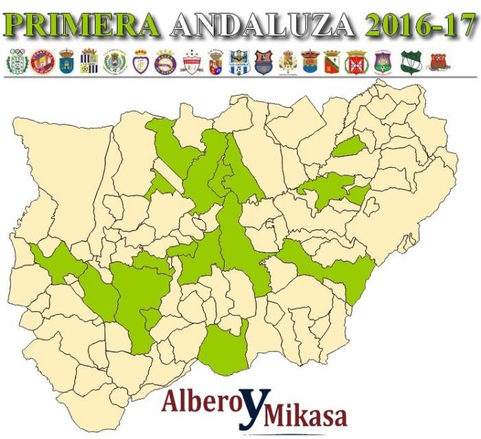 Mapa Primera Andaluza Plazas