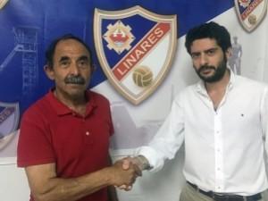 Medina con el ex presidente del Linares | Conecta Jaén