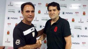 Rafa Ruano el día de su firma | CD Hispania