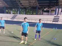 Castillo junto a Luiski y Juanillo en su vuelta al trabajo | José Sabalete