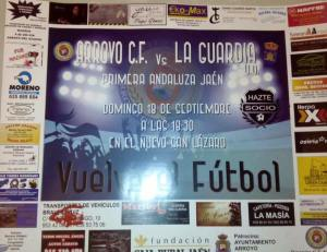Cartel anunciador   CF Arroyo