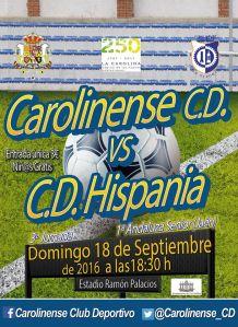 Cartel del partido   Carolinense CD