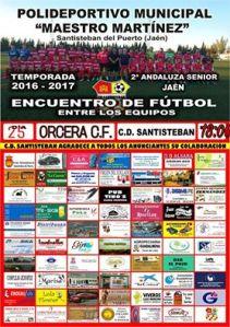 Cartel del partido | CD Santisteban