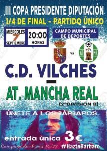 Cartel del partido | CD Vilches