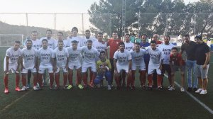 El Hispania portó camisetas de ánimo a Rafa | CD Hispania