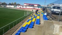 Colocación de los asientos por los operarios | Joaquín Requena