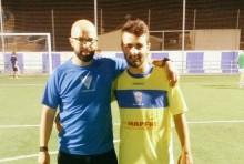 Sergio posa con Lito en Fuensanta | UD La Guardia