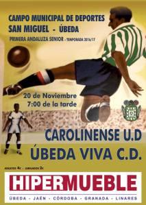 Cartel de partido | CD Úbeda Viva