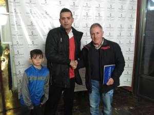 Juan Andrés en el momento de su presentación | CD Villanueva
