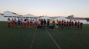 Saludo inicial entre Alcalá Enjoy y AD Mancha Real   Luis Verdejo