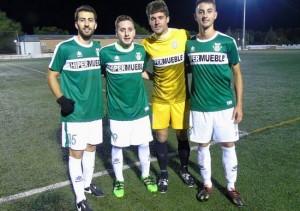Carrascosa (a la izquierda) posa con Rayito, José Domingo y Mario Romero | CD Úbeda Viva