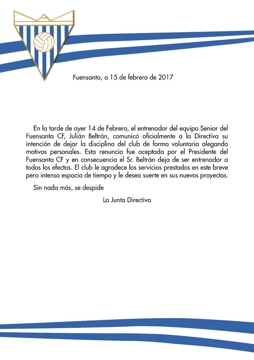 Comunicado oficial | Fuensanta CF
