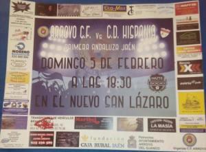 Cartel del partido   CF Arroyo