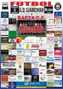 Cartel del partido   Baeza CF